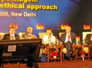 Chairperson, Ms. Nonaka, joined a panel discussion at Delhi Sustainable Development Summit 2009.