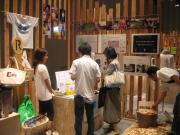Solar lanterns displayed at eco fes in Omotesando Hills